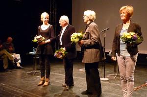 Luise Oppermann, Hartwig Albiro, Inge Heym und Dr. Ulrike Uhlig (von links). Foto: Henry Kreul