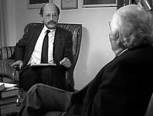 Mai 1986: Dirk Sager interviewt Stefan Heym als Zeuge des 20. Jahrhunderts für das ZDF.