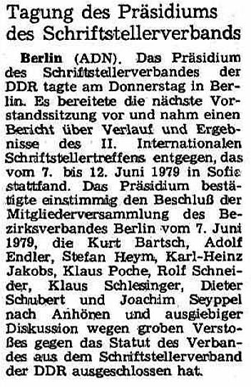 """""""Neues Deutschland"""", 15. Juni 1979"""
