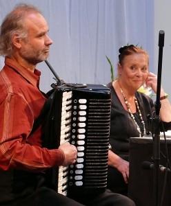 Ursula Karusseit und Tobias Morgenstern, hier bei einer früheren Heym-Lesung. Foto: Uwe Hastreiter/Stadtbibliothek Chemnitz