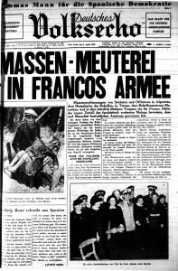 Das Deutsche Volksecho vom 3. April 1937.