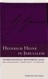 Der Katalog zur Heine-Konferenz in Jerusalem, bei der Stefan Heym im Dezember 2001 seine letzte Rede hielt. Quelle: Verlag Hoffmann & Campe